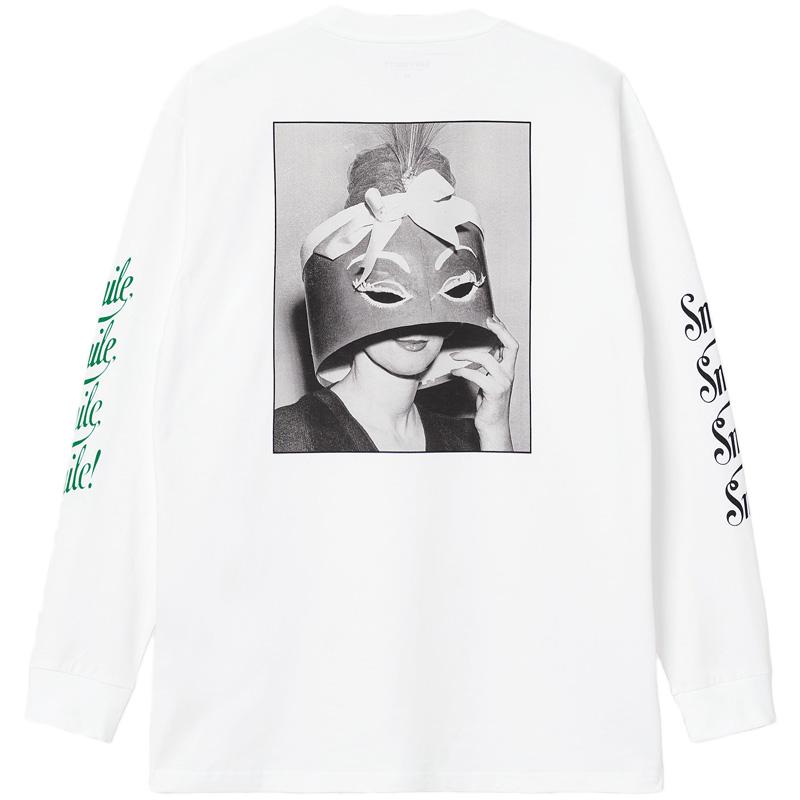 Carhartt WIP Smile Longsleeve T-Shirt White