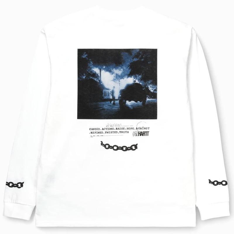 Carhartt WIP Twisted Truth Longsleeve T-Shirt White