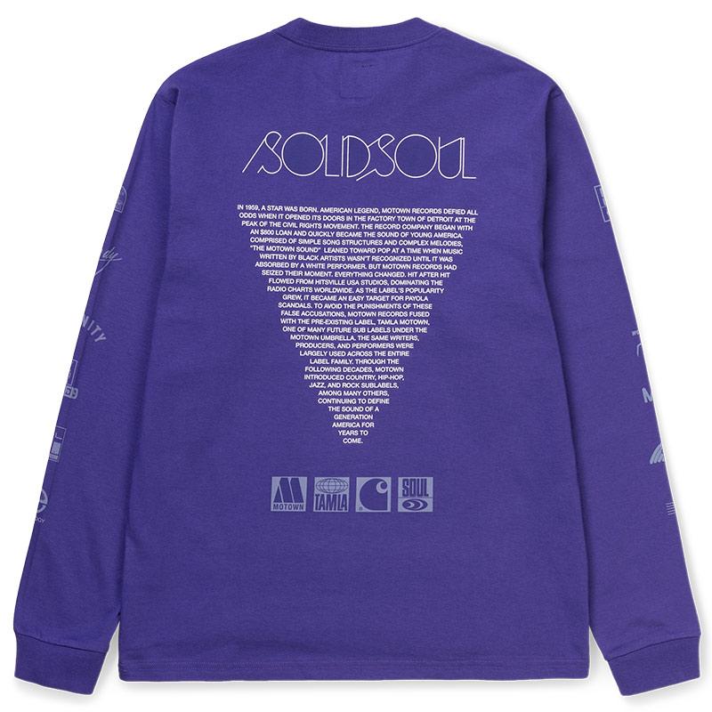 Carhartt WIP X Motown Sublabels Longsleeve T-Shirt Prism Violet