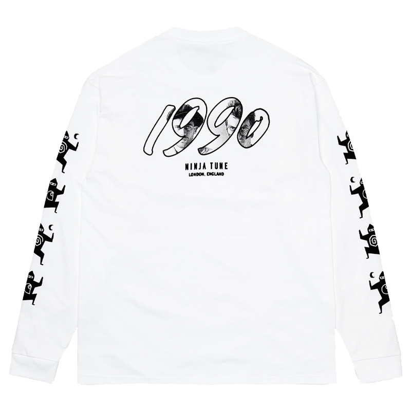 Carhartt WIP X Relevant Parties Ninja Tune Longsleeve T-Shirt White/Black