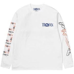 Carhartt X Trojan Records Boss Sounds Longsleeve T-Shirt White
