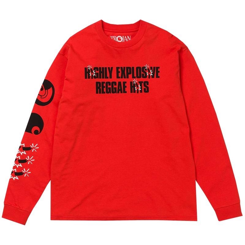 Carhartt X Trojan Records Explosion Longsleeve T-Shirt Red