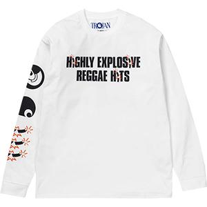 Carhartt X Trojan Records Explosion Longsleeve T-Shirt White