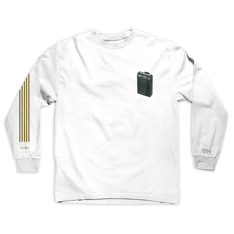 Chocolate Beeper Longsleeve T-Shirt White
