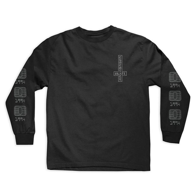 Chocolate Darkside Microchip Longsleeve T-Shirt Black