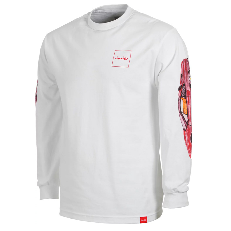 Chocolate Ferrari Longsleeve T-Shirt White
