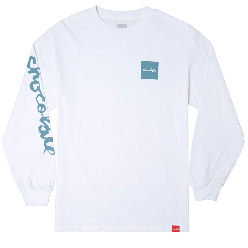 Chocolate Mono Longsleeve T-Shirt White