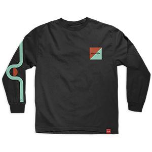 Chocolate Tidal Longsleeve T-Shirt Black