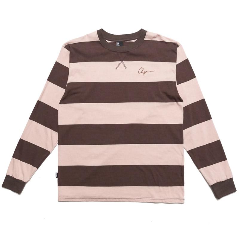 Chrystie NYC Stripe Longsleeve Shirt Red