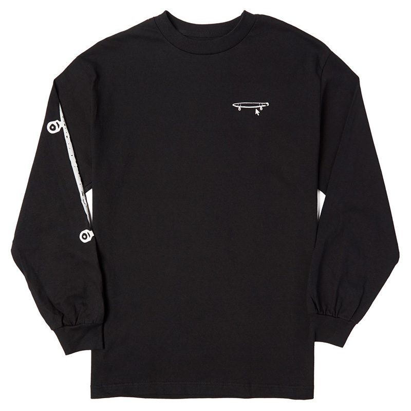 Crailtap Really Long Board Longsleeve T-Shirt Black