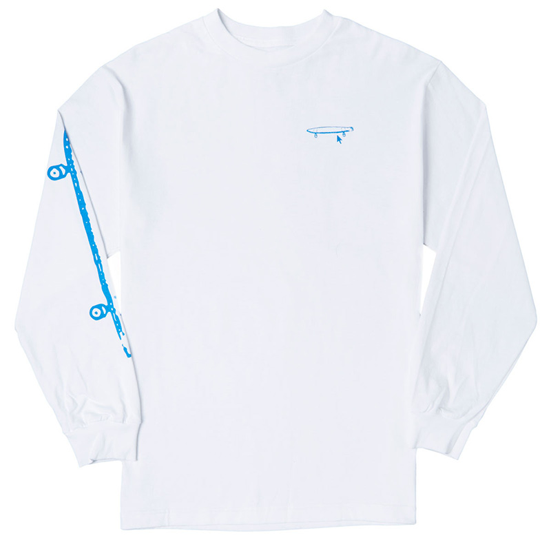 Crailtap Really Long Board Longsleeve T-Shirt White