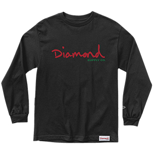 Diamond Alligator Longsleeve T-Shirt Black