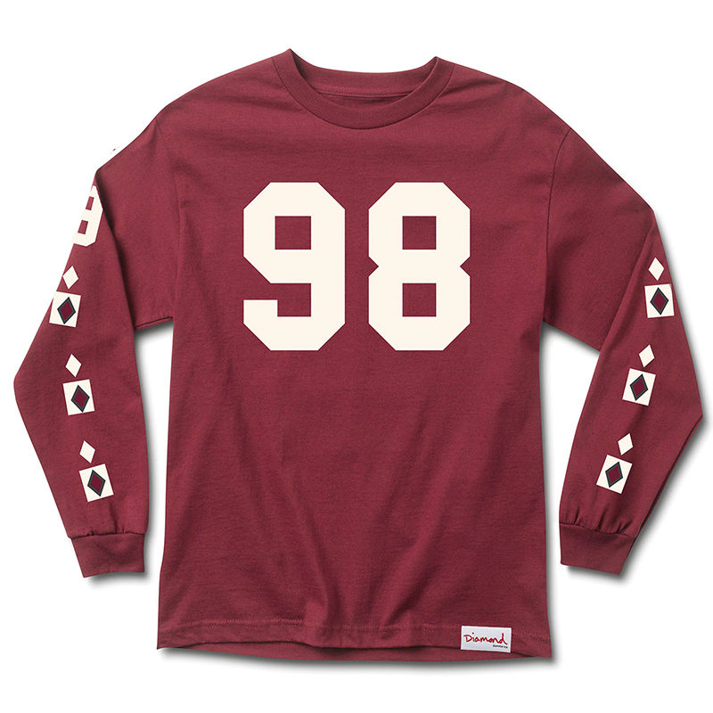 Diamond Alps Longsleeve T-Shirt Burgundy