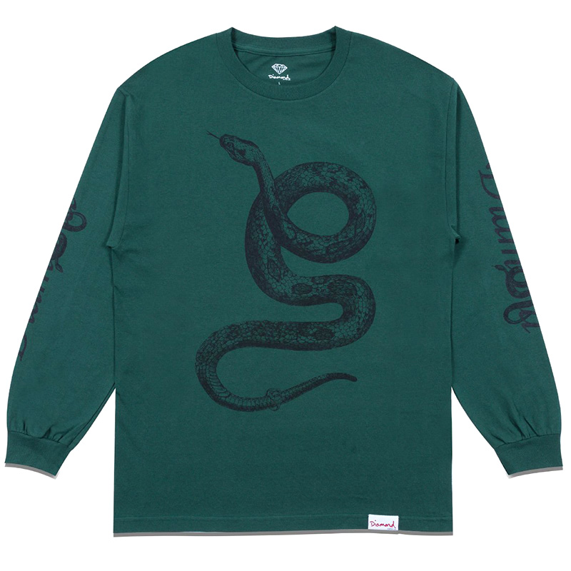 Diamond Cold Blooded Longsleeve  T-Shirt Forest Green