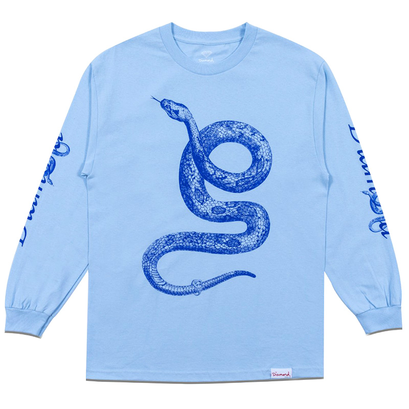 Diamond Cold Blooded Longsleeve T-Shirt Powder Blue
