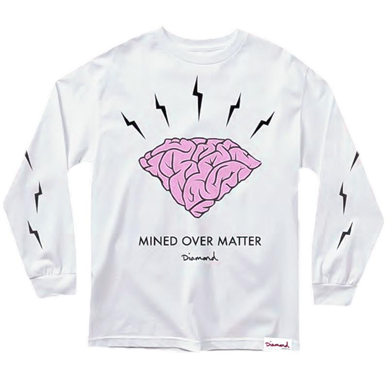 Diamond Headstrong Longsleeve T-Shirt White