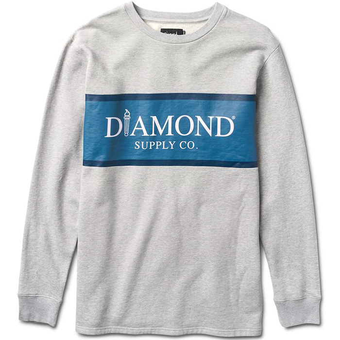 Diamond Mayfair Longsleeve T-Shirt Heather Grey