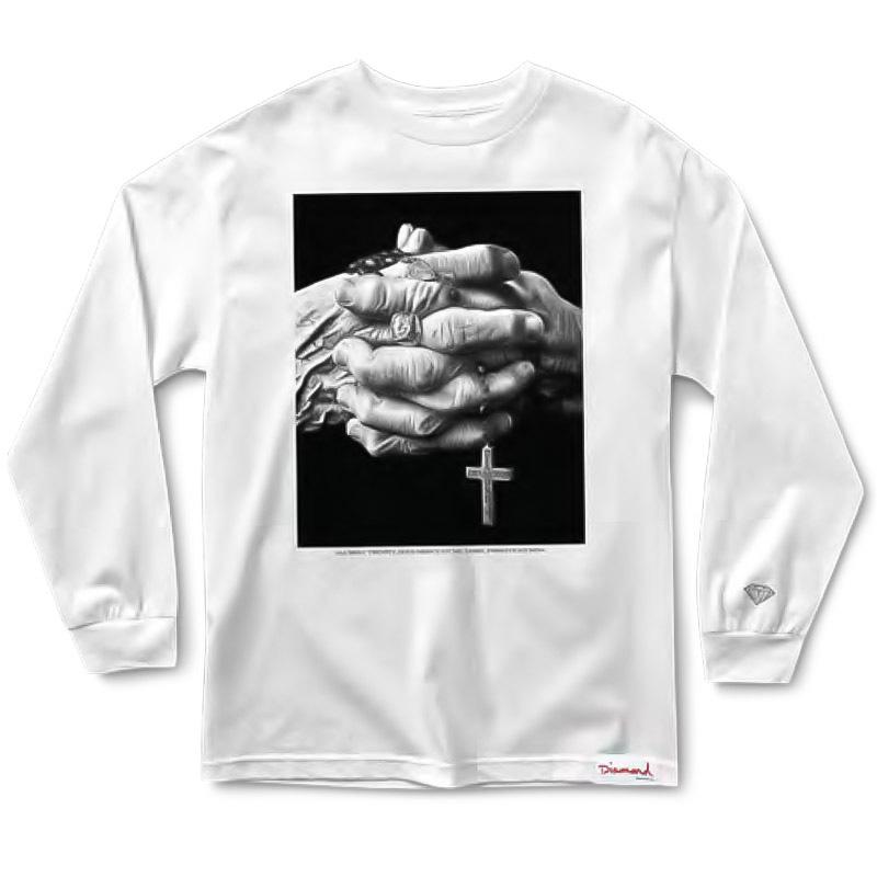Diamond Mercy Longsleeve T-Shirt White