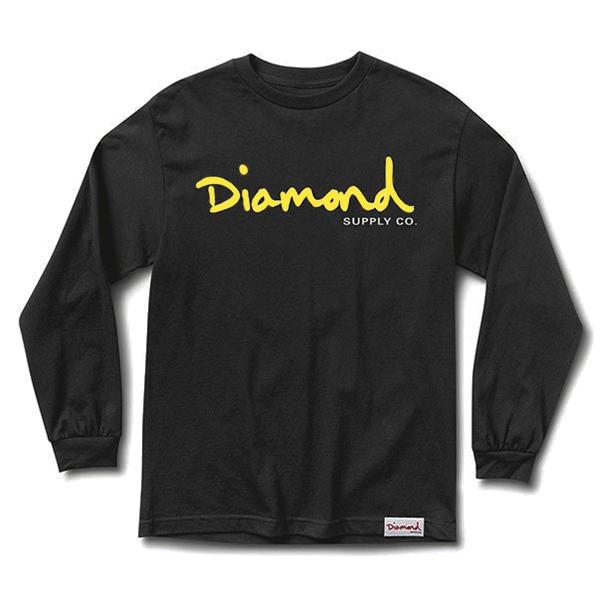 Diamond OG Script Longsleeve T-Shirt Black