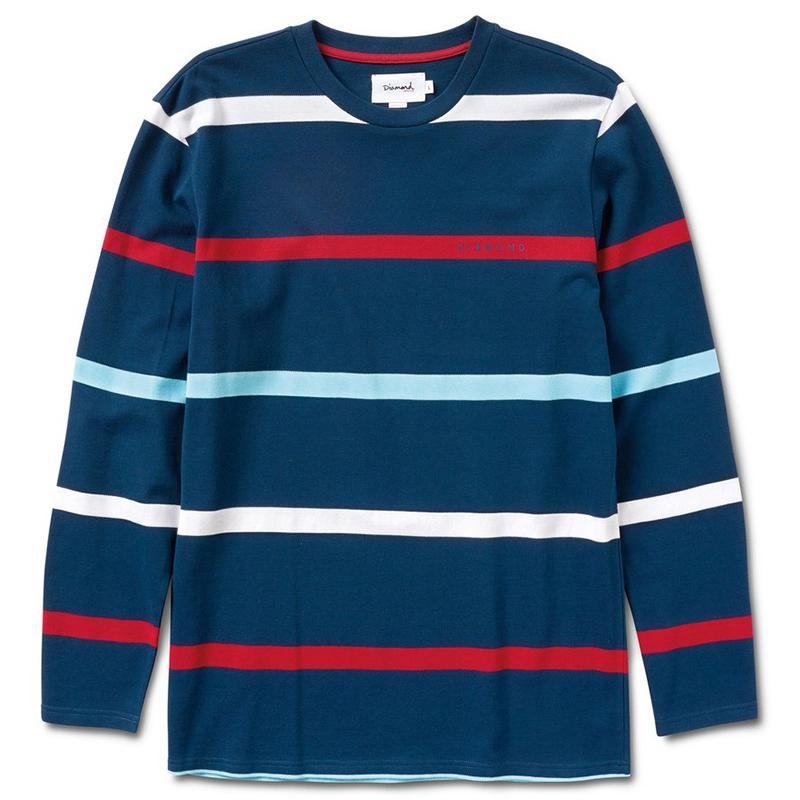 Diamond Paradise Striped Longsleeve T-Shirt Navy