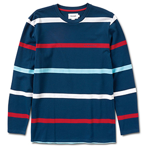 Diamond Paradise Striped Longsleeve T-Shirt Navy