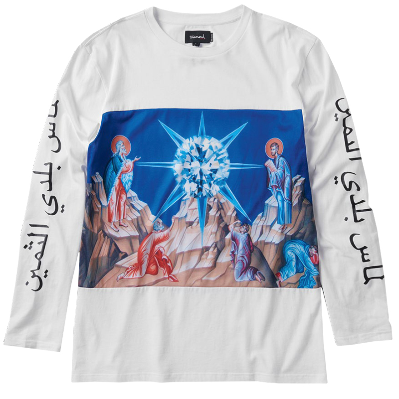 Diamond Savior Longsleeve T-Shirt White