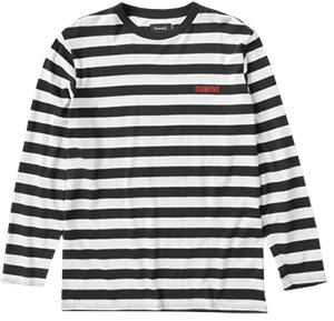 Diamond Striped Longsleeve T-Shirt Black/White