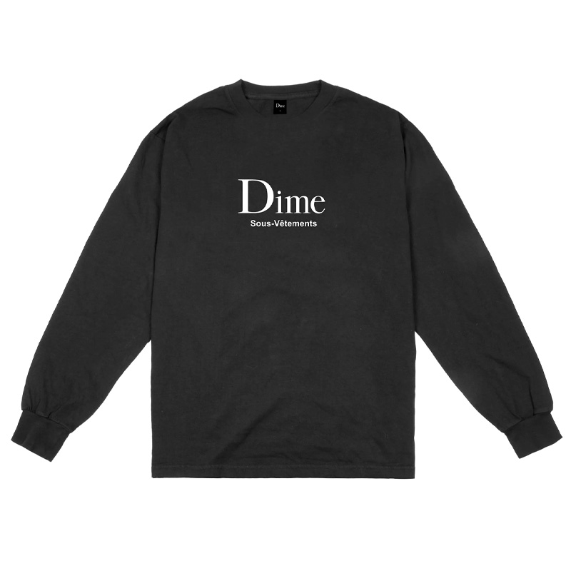 Dime Sous-Vetements Longsleeve T-Shirt Black