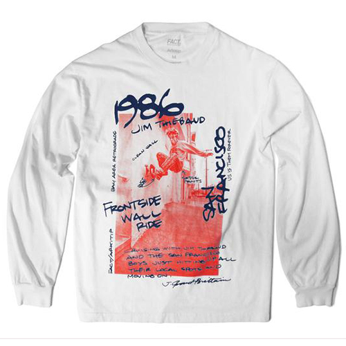 FACT Grant Brittain Jim Thiebaud Longsleeve T-Shirt White