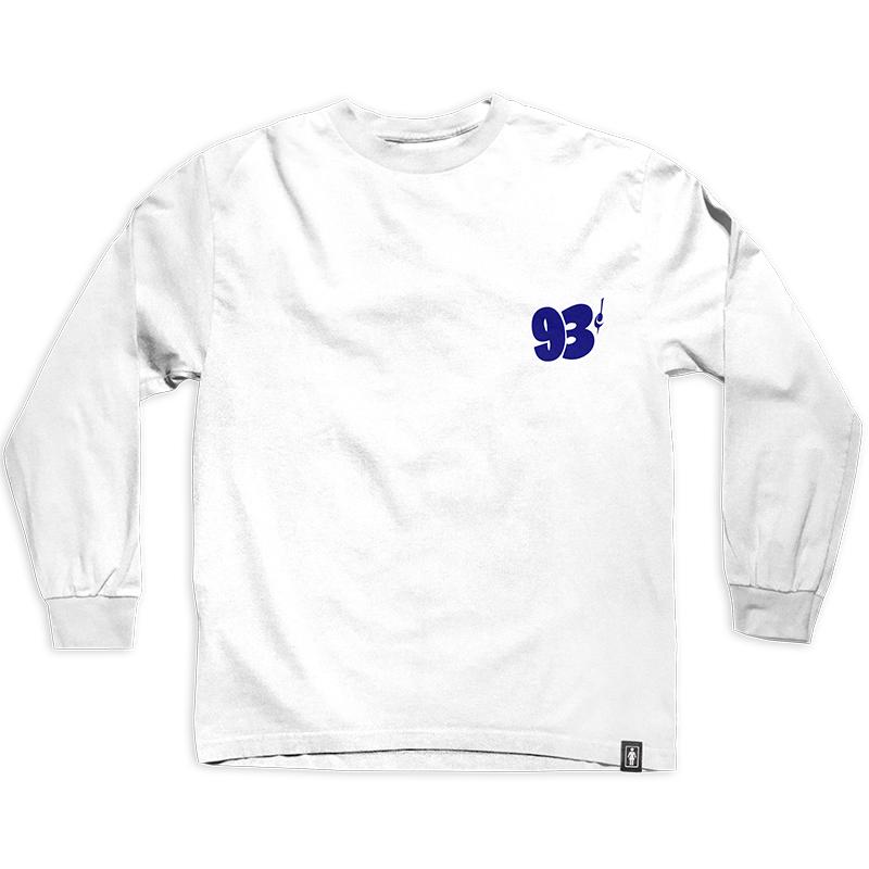 Girl 93 Cent Sign Painter Longsleeve T-Shirt White