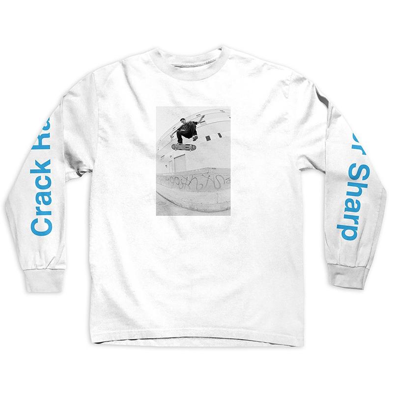 Girl Crack Raider Longsleeve T-Shirt White