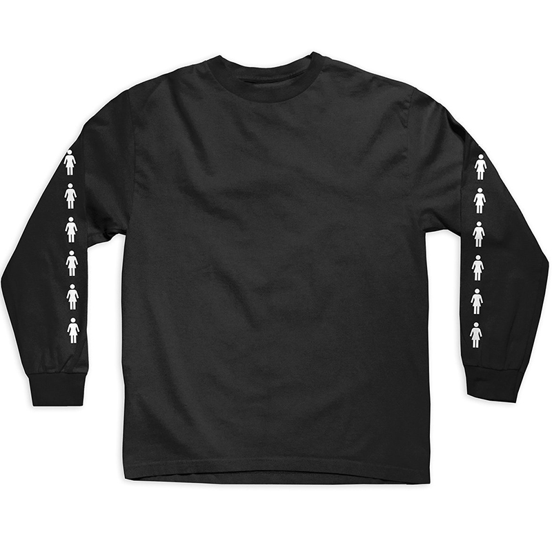 Girl Runway Longsleeve T-Shirt Black