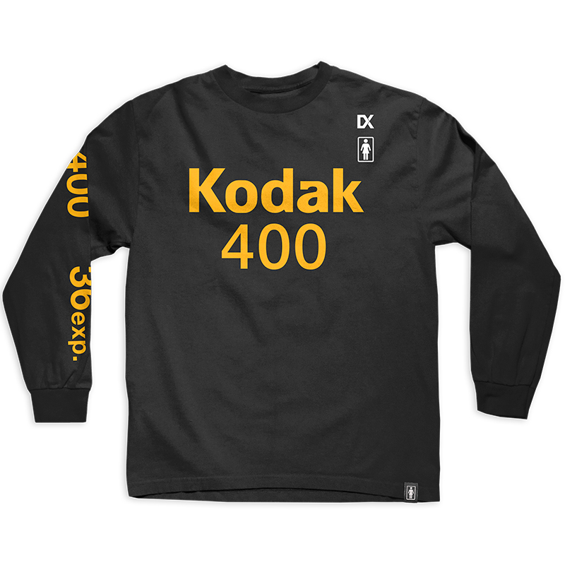 Girl x Kodak Gold 400 Longsleeve T-Shirt Black