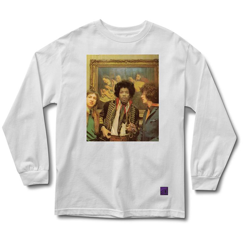 Grizzly x Jimi Hendrix Jimi In Amsterdam Longsleeve T-Shirt White