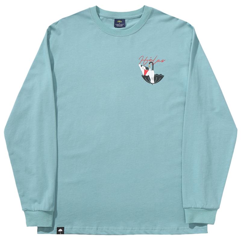 Helas Bubbles Longsleeve T-Shirt Blue