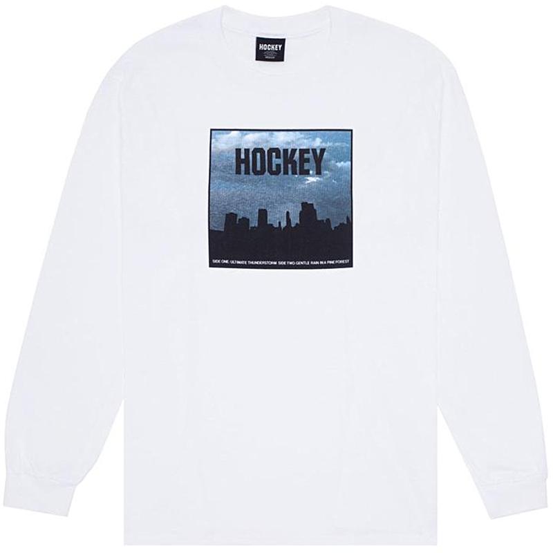 Hockey Side Two Longsleeve T-Shirt White