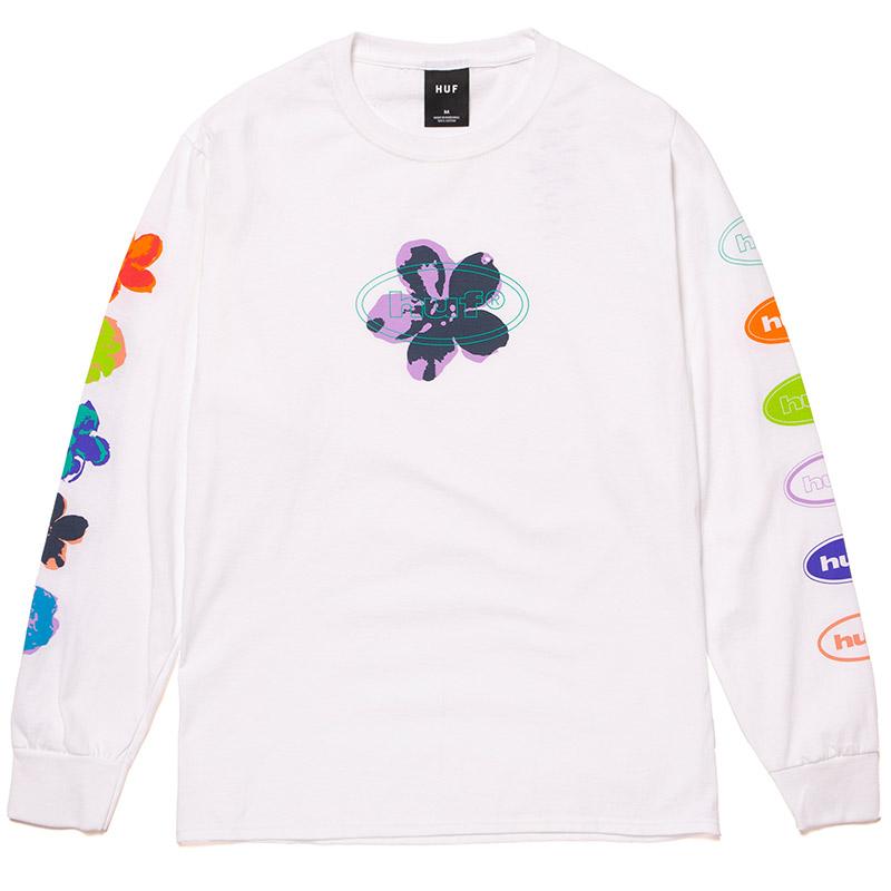 HUF Adored Longsleeve T-Shirt White