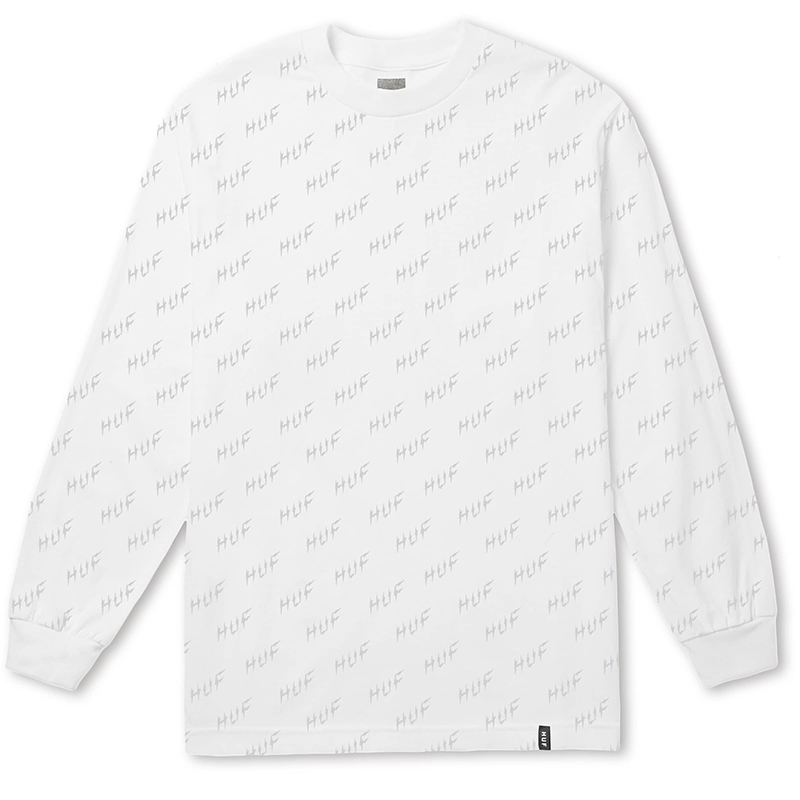 HUF Bolt All-Over Longsleeve T-Shirt White