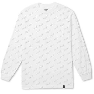 HUF Bolt All-Over Longsleeve T-Shirt White