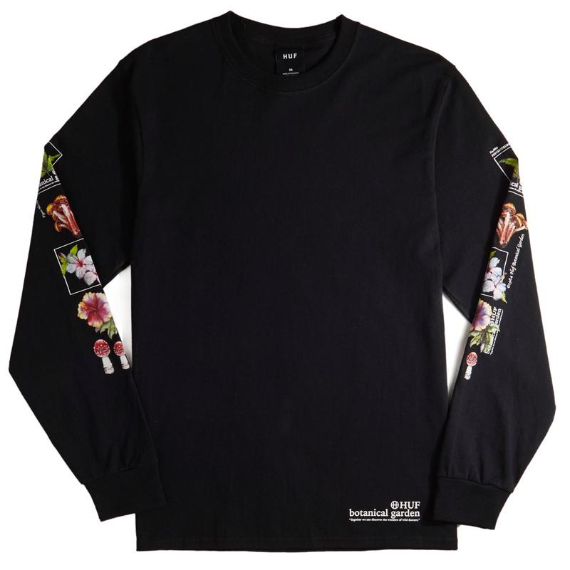 HUF Botanical Garden Longsleeve T-Shirt Black