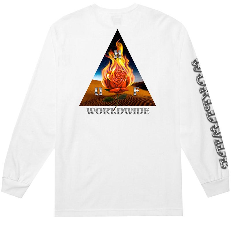 HUF Ember Rose TT Longsleeve T-Shirt White