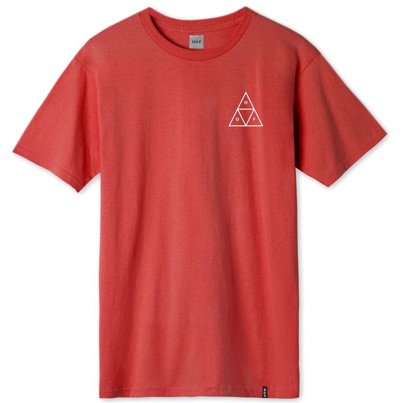 HUF Essential Triple Triangle T-Shirt Cayenne