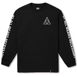 HUF Triple Triangle Longsleeve T-Shirt Black