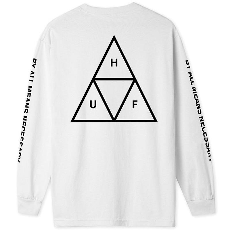 HUF Essentials Tt Longsleeve T-Shirt White