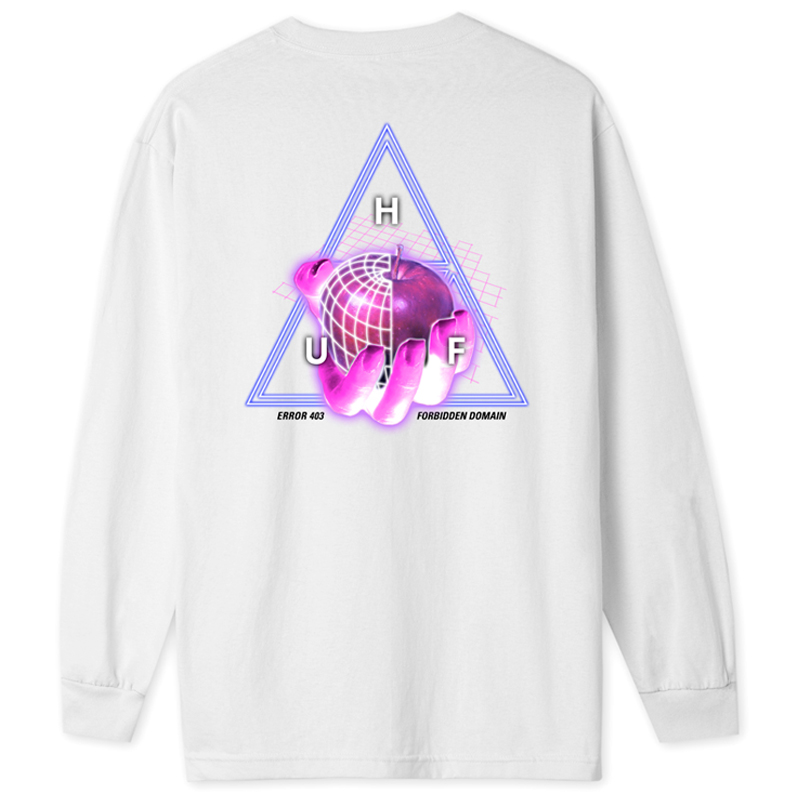 HUF Forbidden Domain Longsleeve T-Shirt White