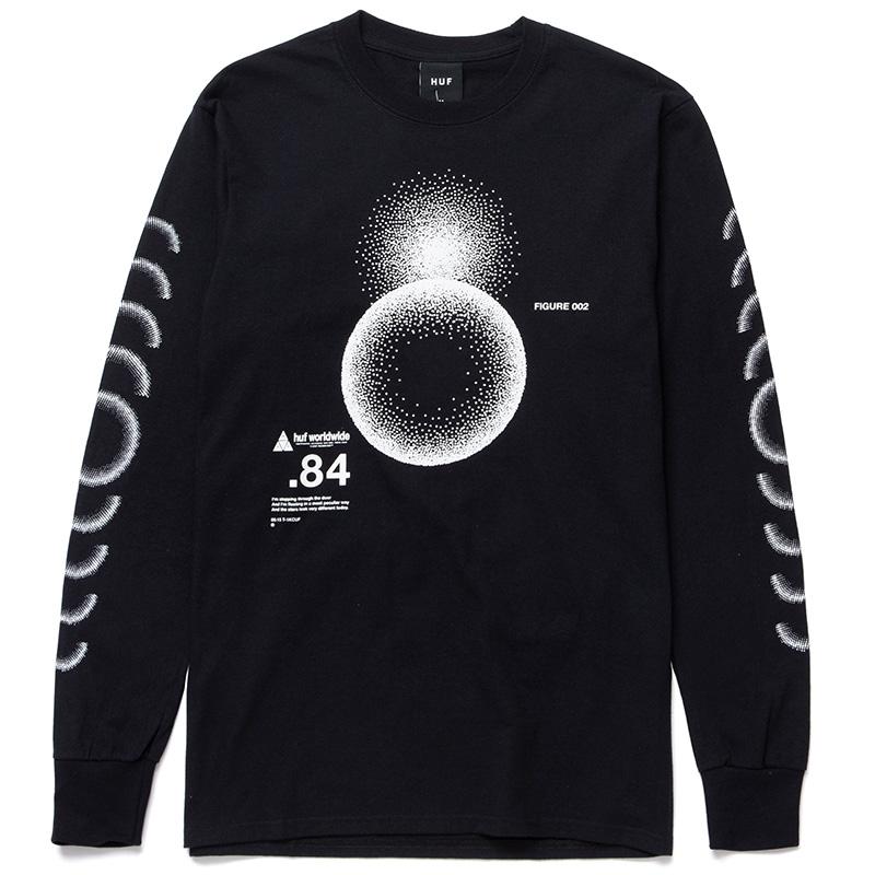 HUF Ground Control Longsleeve T-Shirt Black