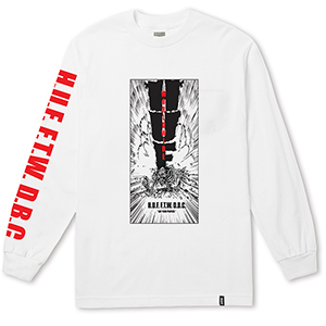 HUF Kaboom Pocket Longsleeve T-Shirt White