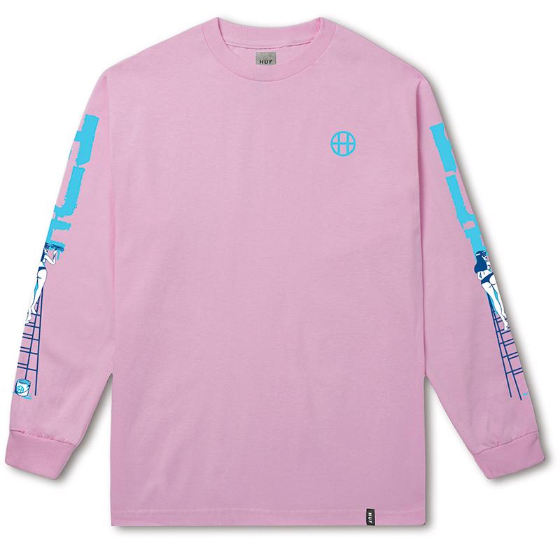 HUF Ladder Longsleeve T-shirt Pink