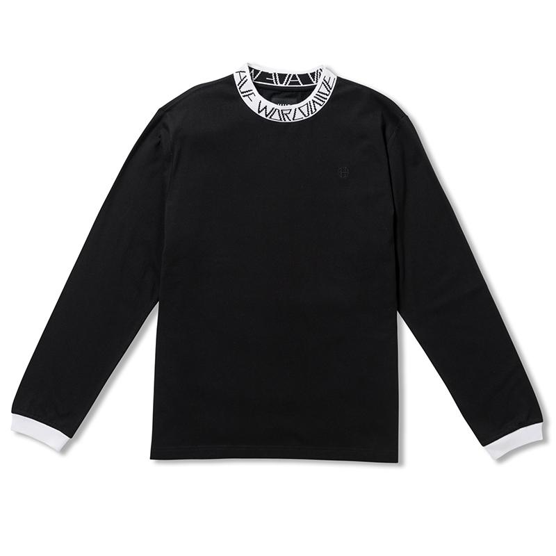 HUF Letras Longsleeve T-Shirt Black