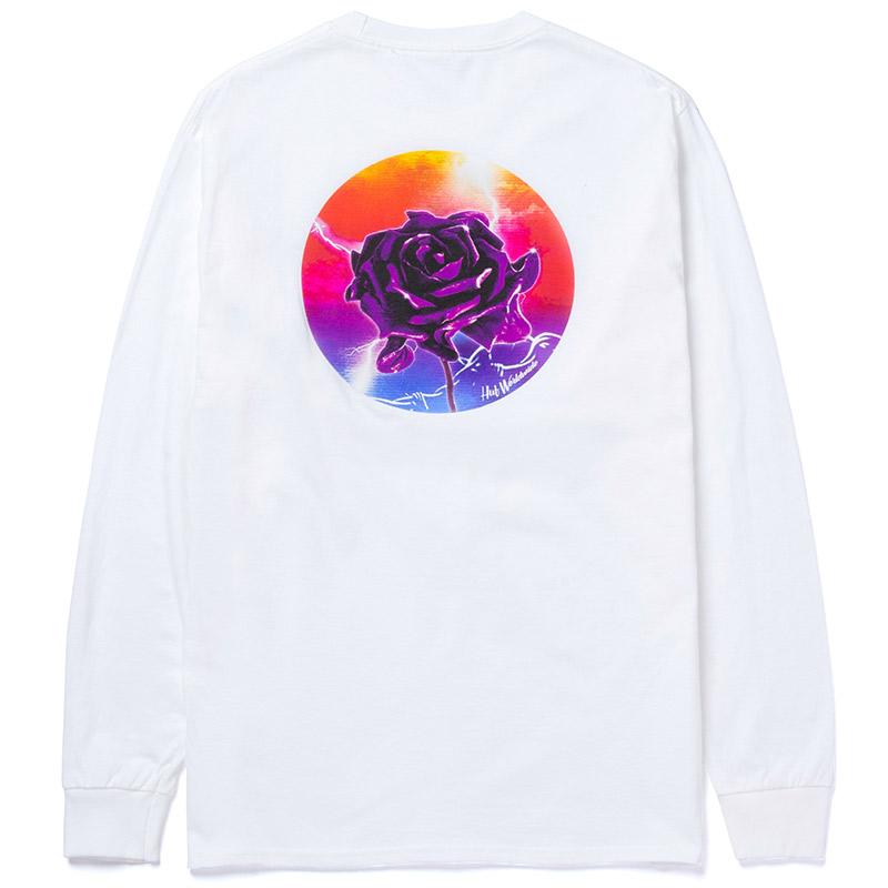 HUF Lightning Rose Longsleeve T-Shirt White